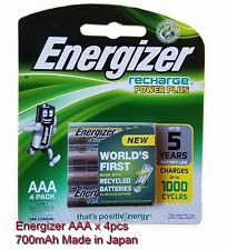 New Energizer AAA x4 NiMH 700mAh rechargeable batteries NH12RP4 With Tracking