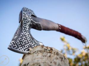 "Premium Slavic Combat  Axe ""Battle cry""  Handmade Custom Handforged"