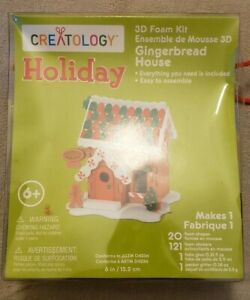 Creatology Holiday 3D Gingerbread House Craft Foam Kit, Brand New In Box