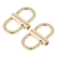 2/set Adjustable Metal Buckle for Handbag Purse Chain Strap Bag Hooks Clips