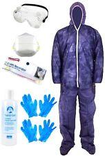 6 PC Kit Coverall + respirador estándar PPE + Gafas De Seguridad + Guantes + Gel De Mano
