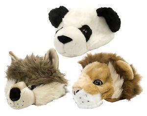 Kids Children Wild Republic Plush Hat Cap Wolf Panda Lion Boys Girls Great Gift