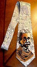 Albert Einstein All Over A Brand New 100% Polyester Neck Tie  E-MC