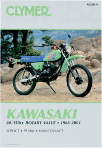 CLYMER Repair Manual for Kawasaki 80-350cc Rotary Valve 1966-2001