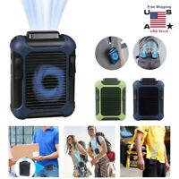 Portable Mini Waist Fan 4000mAh Hands-free Wearable 3 Speeds Strong Airflow