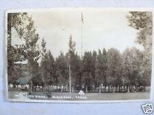 RPPC IDAHO. CITY PARK, BLACKFOOT, ID. POSTED SAME JUN/1927! REAL PHOTO POSTCARD