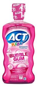 ACT Kids Anticavity Fluoride Rinse, Bubblegum Blowout, 16.9 oz (3 Pack)