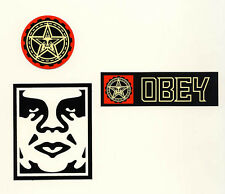 OBEY GIANT Shepard Fairey 3 STICKER LOT Set #7 *BRAND NEW* Andre the Giant logo