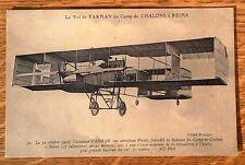 Farman sur aéroplane Voisin de Chalons à Reims 1909