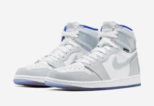 Men's Air Jordan 1 Zoom 'Racer Blue' Shoes -Size 8 -CK6637 104 -NEW-