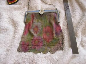 Antique Art Nouveau Whiting Davis  Fringe Purse