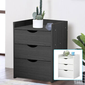 3 Modern Drawers Bedroom Chest of Drawers Bedside Table Cabinet Storage Table