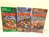 [VG]Super Donkey Kong Country 1 2 3 CIB SFC Super Famicom SNES NTSC-J Japan SDK