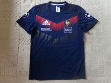 maillot rugby entrainement du XV de FRANCE porté Matthieu JALIBERT adidas M
