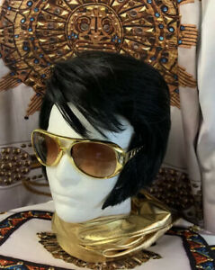 """70's ETA ELVIS WIG with SIDEBURNS & GLASSES - """"The King"""""""