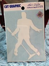 "NOS ELVIS PRESLEY ""ELVIS WITH MICROPHONE""  SMALL WINDOW DECAL"