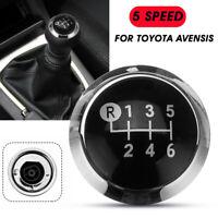 6 Speed Gear Shift Knob Cap Cover Top Emblem Chrome Trim For Toyota Avensis