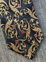 "Courtenay Men's Silk Necktie Paisley Tie Cobalt Blue Tan Red Olive Green 57"""