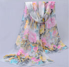 New Women Lady Floral Chiffon Soft Long Neck Scarf Shawl Scarves Stole Wraps Nw