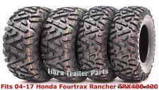 Full Set Atv tires 24x8-12 & 24x10-11 F 04-17 Honda Fourtrax Rancher Trx400 420