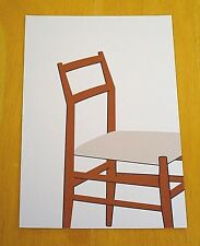 ICONIC DESIGN POSTCARD ~ LEGGERA CHAIR ~ WALNUT & CANE ~GIO PONTI, CASSINA ~1950