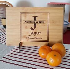Personalized chopping cutting board wedding gift, house warming Christmas Gift
