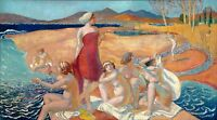 MAURICE DENIS THE AWAKENING OF ULYSSES GICLEE PRINT FINE CANVAS