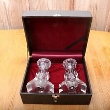 2 Crystal Taper Candleholders In A Case