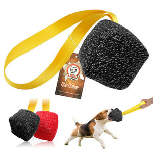 Jute Dog Bite Tug Durable With Handle for Training Young K9 Dogs German Shepherd