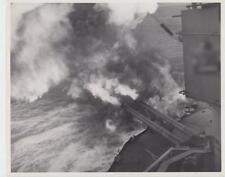 U.S. Battlewagon Aids Land Forces 6/9/44 - Press Photo