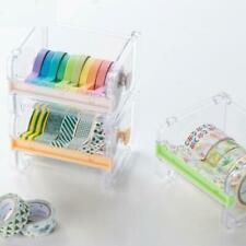 Transparent Washi Tape Box Paper Tape Stationary Storage Box Set DIY Tape O3Q6