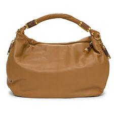MICHAEL KORS NEW Crescent Tonne Brown Gold Large Hobo Leather Bag Handbag Purse