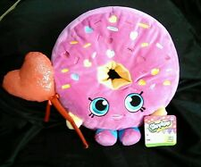 "Shopkins D'Lish Donut Plush 11"" Just Play Valentine Red Heart Balloon NWT"