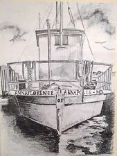 "FRAMED Anna Florence Annapolis Pencil Sketch Print - Carol Johnson - 12"" x 15"""