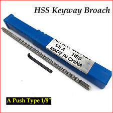 """HSS Keyway Broach 1/8"""" Inch A Push Type Inch Size Metalworking Tool Accessory"""