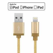More details for genuine mfi lightning cable usb braided data charger lead for iphone ipad ipod