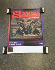 Saxon Original Concert Poster From Germany Promo No Dates On The Poster