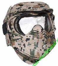 """Máscara PROTECTORA  AIRSOFT ETC facial, """"Lucha"""", arbolado digitales  10610S MF"""