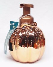 1 Bath Body Works ORANGE PUMPKIN Ceramic Hand Soap Dispenser Holder Sleeve Pump