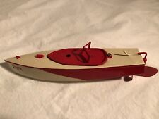 DUX Tin Wind Up Boat 1930s Works Well Large 14 inches