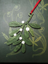 Wooden Mistletoe Yule Decoration - Love - Pagan, Winter Solstice, Christmas Tree