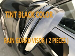 NEW SIDE MIRROR RAIN SNOW GUARD VENT SHADE DEFLECTOR VISOR Tint vw14-17