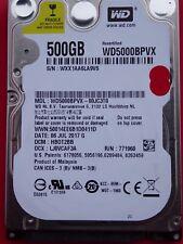Western Digital WD5000BPVX-00JC3T0 | HB0T2BB | 06 JUL 2017 | 500GB