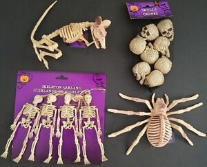 Halloween Bones of Skeletons, Skulls, Rats & Spiders   Select: Type