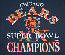 Xs * Nos thin vtg 80s 1985 Chicago Bears super bowl Screen Stars t shirt * 68.78