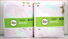 Circo Pretty WILD HORSES Sheet Set - Horse & Flowers - PINK Full or Twin ❤️NEW❤️