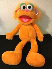 "Jumbo 36"" Sesame Street Plush ZOE Orange Monster~Hasbro Playskool 1995 Vintage"