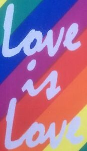 """Gay Pride LGBT Fabric Bunting """"Love is Love"""" - Free 1st Class Postage"""