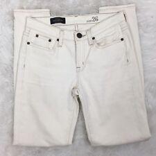 J.Crew Women's Skinny Toothpick Jean in Ecru Fit Cream White Jeans Pants Size 26