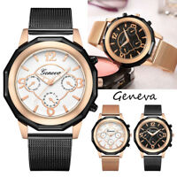 Luxury Women Stainless Steel Watch Analog Quartz Wrist Watches Bracelet Gift